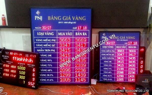 Toàn Trung đã lắp đặt bảng điện tử giá vàng cho công ty vàng bạc đá quý Phú Nhuận
