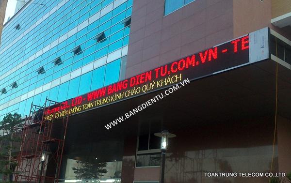 Toàn Trung chuyên lắp đặt bảng điện tử p10 bóng đỏ với giá cả cạnh tranh nhất TP HCM