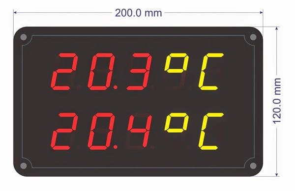 Phạm vi sử dụng bảng điện tử hiển thị nhiệt độ ngày càng rộng rãi.