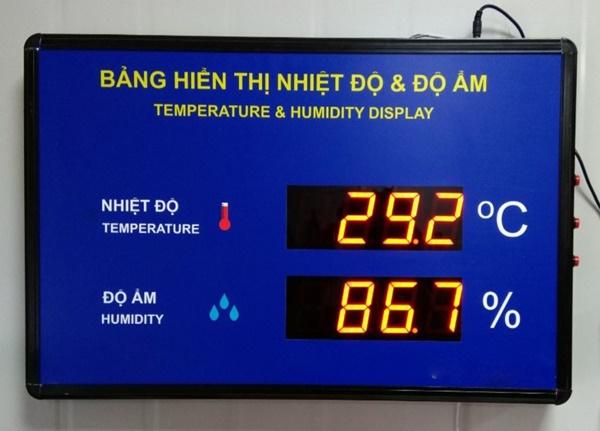 Toàn Trung chuyên cung cấp và lắp đặt bảng điện tử hiển thị nhiệt độ đạt chuẩn ISO 9001-2015.