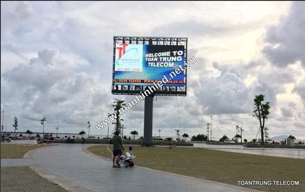 Toàn Trung thi công lắp đặt màn hình led p5 ngoài trời cho quảng trường tỉnh An Giang
