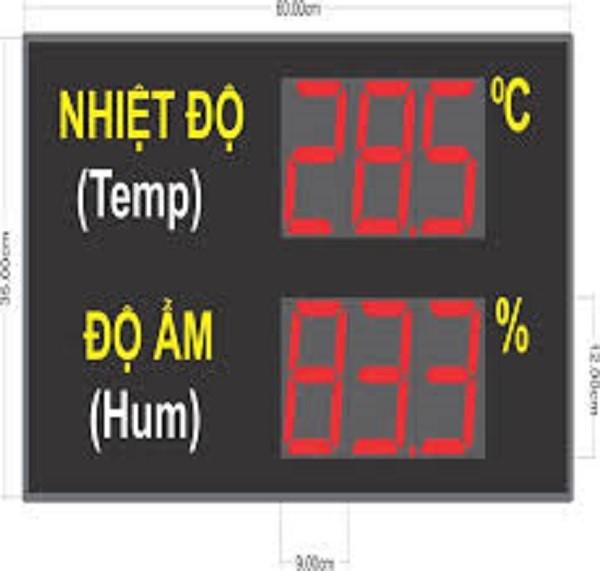 Đơn vị thi công bảng điện tử hiển thị độ ẩm nào uy tín?