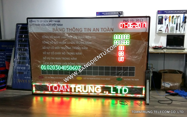 Toàn Trung lắp đặt bảng điện tử LCD cho nhà máy sữa bột Vinamilk