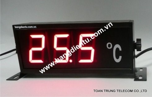 Bảng điện tử hiển thị nhiệt độ ngày càng được ứng dụng phổ biến