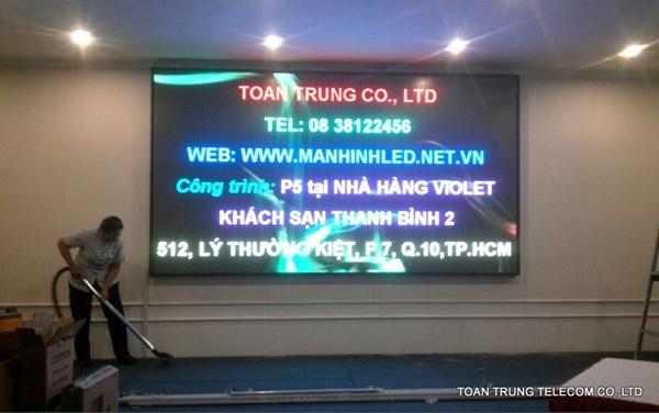 Toàn Trung đã thi công nhiều màn hình led cho quán nhậu và hỗ trợ tăng doanh thu hiệu quả