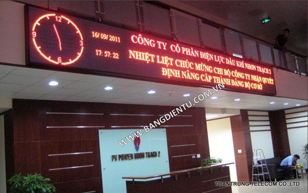 Toàn Trung là đơn vị cung cấp bảng báo giá điện tử chữ chạy giá tốt cho công ty Điện Lực Dầu Khí Nhơn Trạch