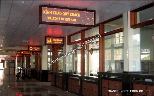 Công trình bảng điện tử tại cửa khẩu Lao Bảo Quảng Trị do công ty Toàn Trung thi công