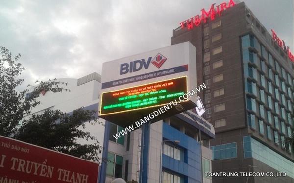 Toàn Trung cung cấp bảng điện tử cho ngân hàng BIDV – CN Bình Dương