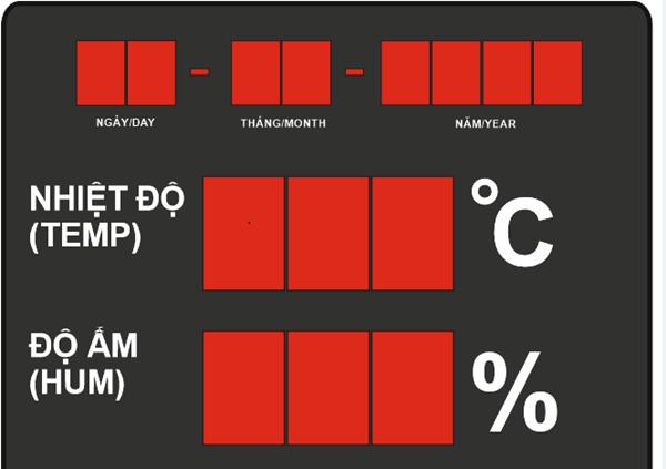 Toàn Trung chuyên cung cấp và lắp đặt bảng điện tử hiển thị độ ẩm chất lượng và giá tốt nhất