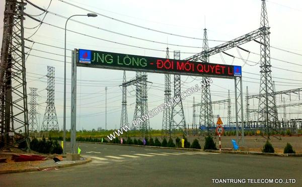 Toàn Trung lắp đặt bảng điện tử chạy chữ cho công ty điện lực dầu khí Nhơn Trạch 1