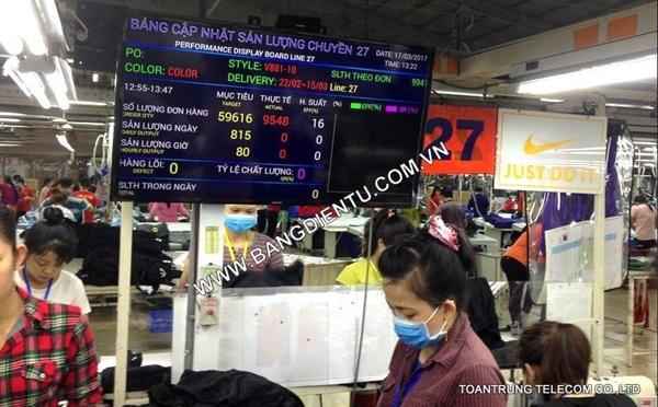 Toàn Trung đã cung cấp và lắp đặt bảng điện tử LCD cho hàng trăm doanh nghiệp tại TP HCM